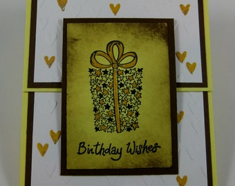 Birthday Wishes  with stars and hearts
