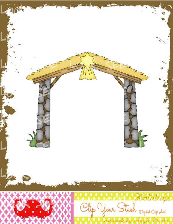 Nativity Stable Clipart X4-54 nativity christmas star