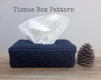 Crochet Pattern, Tissue Box Cover, Instant Download, Crochet, Crochet Tutorial, Long Tissue Box Cover Pattern