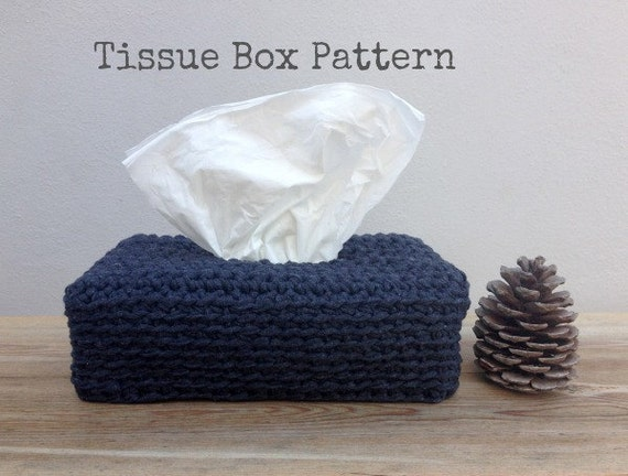 crochet pattern tissue box cover instant download crochet