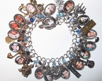 Robert Pattinson Tribute Charm Bracelet with 29 charms
