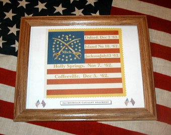 34 Star Flag, American Flag, Civil War Flag...3rd Michigan Cavalry