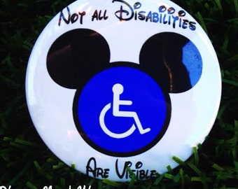 Disabilities are not always visible button