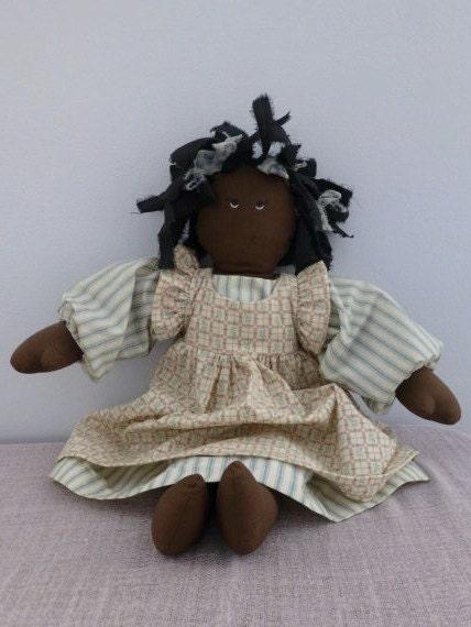 Vintage Americana Handmade African American Doll Handmade