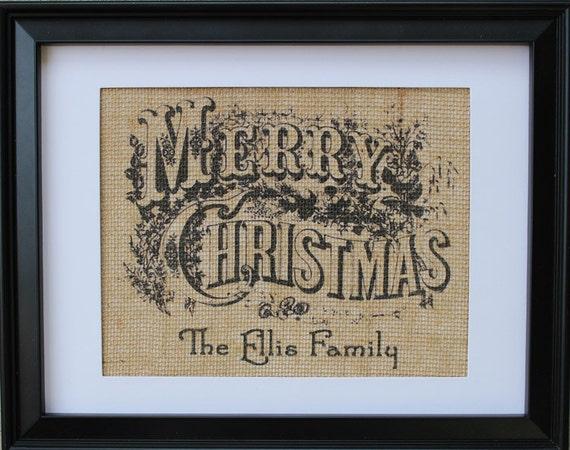 Merry Christmas Sign Burlap Burlap Merry Christmas Print