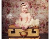 Ivory cream vintage petti skirt - ivory cream tutu - newborn ivory cream petti skirt - toddler petti skirt - vintage satin petti skirt