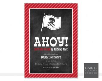 Printable Pirate Invitation