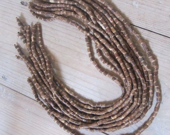 Strings of bamboo tube beads