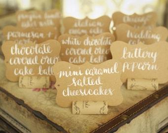 Kraft Paper Dessert Tags