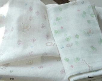 Bamboo Gauze Fabric in 2 Colors By The Yard