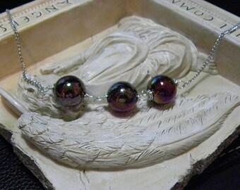 Plum & Burgundy Bead Necklace