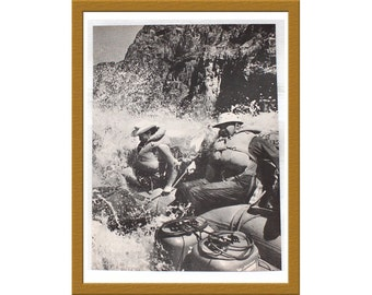 "1961 Vintage Print / Wet and woolly voyage Colorado River The Outlaw / 9"" x 13"" / Buy 2 ads Get 1 FREE"