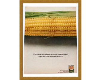 "1970 Del Monte Color Print AD / The more you know about corn / 10"" x 13"" / Original Print Ad / Buy 2 ads Get 1 FREE"