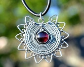 LADA - silver Slavic pagan jewel Sun Symbol early medieval jewelry museu replica Great Moravian Empire IX century