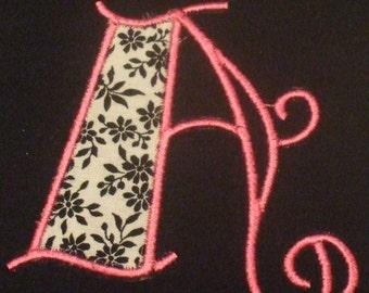 POSH SWIRL Machine Embroidery design Font applique  On sale for 1.49