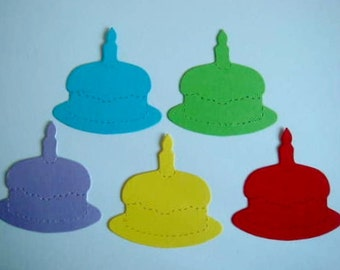 50 Bright Birthday Cake die cuts for cards/toppers *cardmaking*scrapbooking* craft project