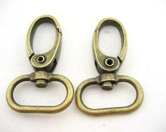 4*brass Bag Clasps Lobster Swivel Trigger Clip Snap Hook DIY bag hook supplies