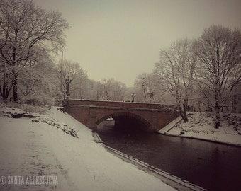 Enchanting view of the winter in Riga,Latvia - Fine Art Photography - Print 8x12 - winter photo, landscape photo, snow photo, bridge photo