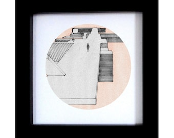 Architectural Hand Drawing Print - Urban Decay - Extension of the Promenade - Original Artwork