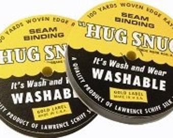 HS1WH - Hug Snug Seam Binding - White