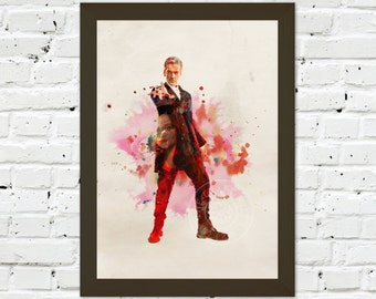 0043 Dr Who Peter Capaldi A3 Wall Art Print Multiple Sizes