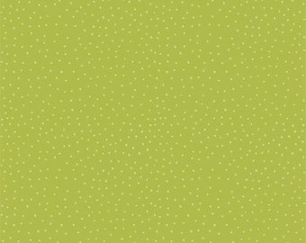 Peak Hour Green Dot Fabric from Riley Blake