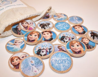 Frozen Memory Match Game- Personalized, Wood Toy Game, Montessori, Educational Toy