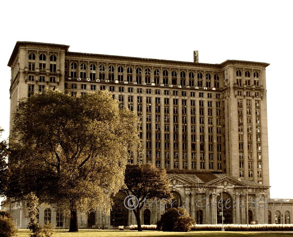 Architecture photography detroit michigan central rail for Detroit architectes