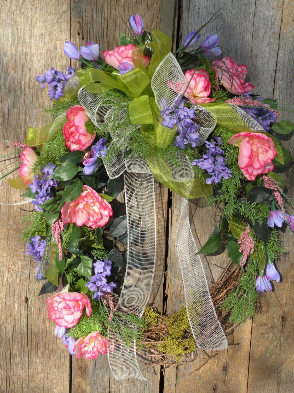 Summer Front Door Wreath: Spring Wreath Front Door Wreath Summer Wreath By