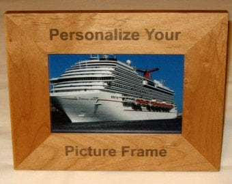 Personalized Wood 4x6 Picture Frame- Custom Engraved For You
