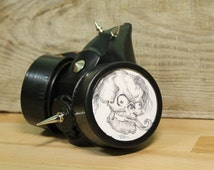 gas mask ... steampunk cyber mask ... skull ... goth mask ...  spikes mask ...  Apocalyptic ...  mad ... gothik