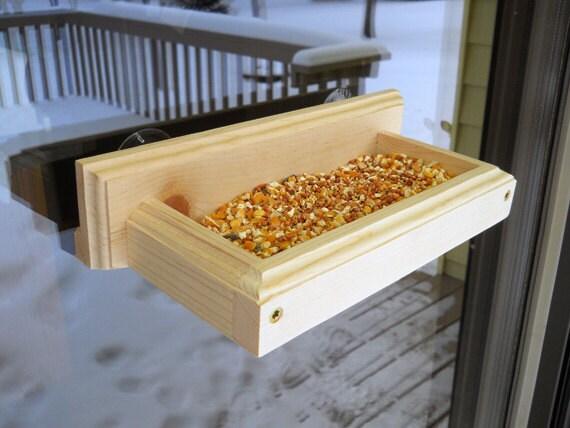 Window bird feeder wood bird feeder suction cup feeder