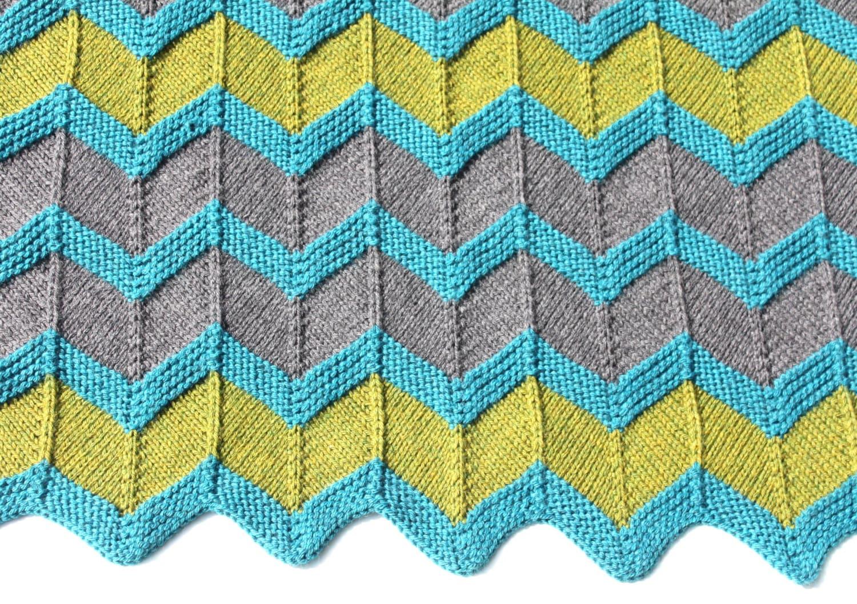 Zip Baby Blanket Pattern chevron knit baby blanket pattern