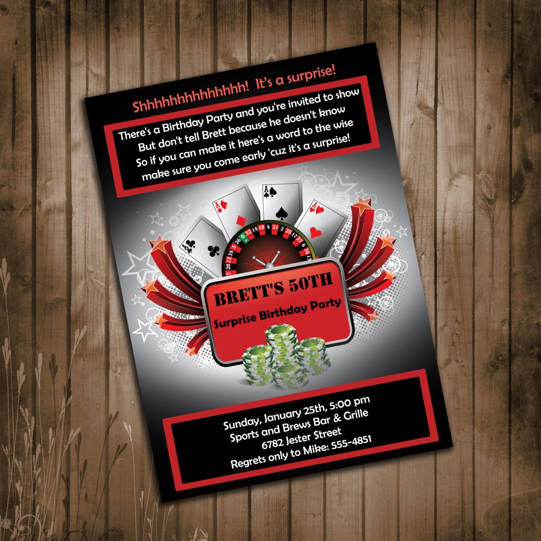 Surprise casino party invitations : Online Casino Portal