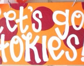 Let's Go Hokies - Virginia Tech Canvas