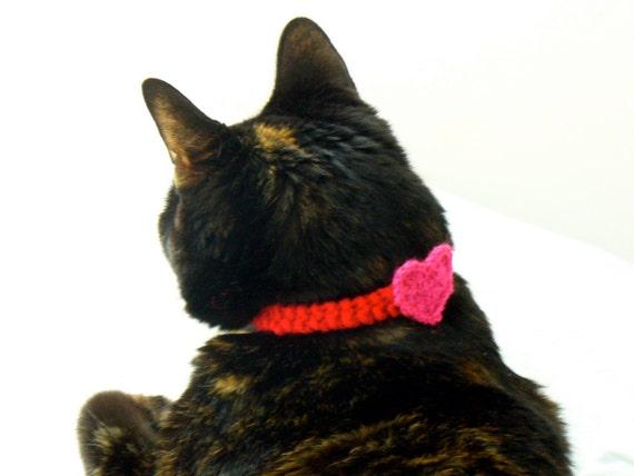 valentine heart cat neckband
