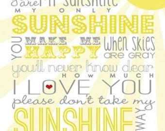 You Are My Sunshine- metal art