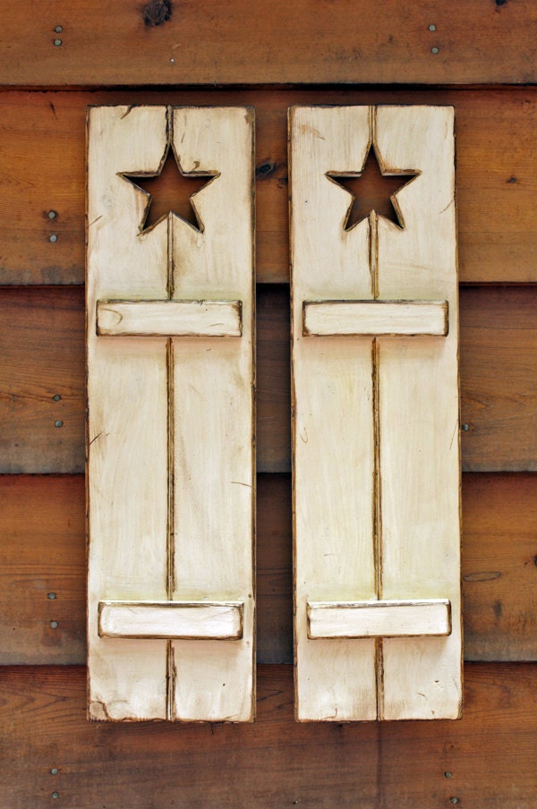Rustic Wooden Shutters Great For Wall Decor