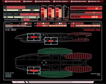 Battlestar Galatica console display