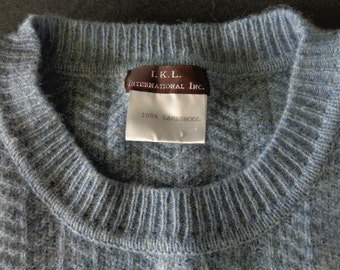 Mans Heather Blue Lambswool Sweater