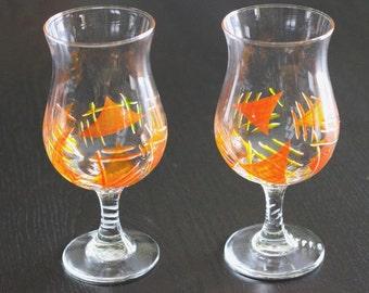 Beer triangles geometric glass