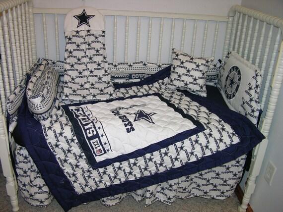 New Nursery Bedding M/w Dallas Cowboys Fabric