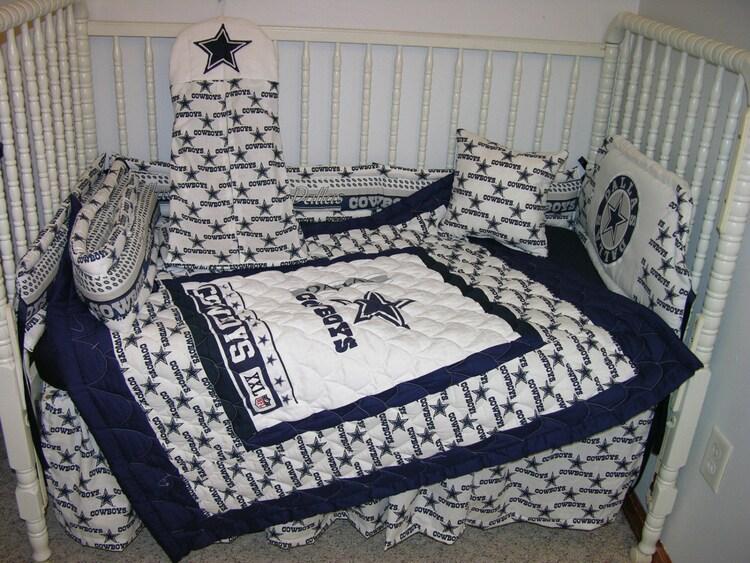 New Nursery Bedding M W Dallas Cowboys By Cutiepatootiebedding
