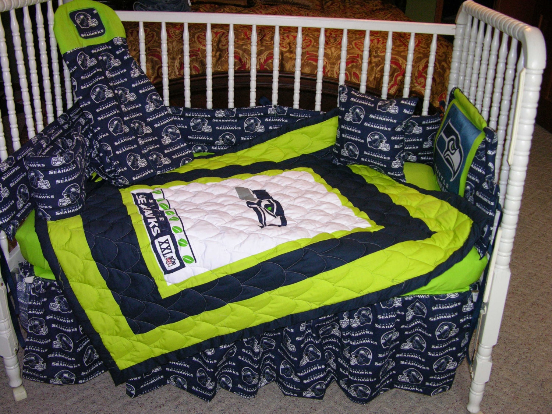 Crib Bedding Set M W Seattle Seahawks Fabric