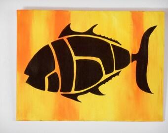 Butchered Fish Silhouette