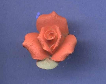 Rose Button, Realistic Molded Material