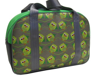 Little Packrats OWL Round Top Tote