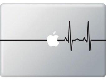 Laptop decal – Laptop Sticker – Macbook Pro decal – Macbook Air decal – Car window – Hipster - Heartbeat