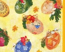 """6 Decoupage Paper Napkins Easter 33x33 cm. 13""""x13"""" set of 6 pcs"""