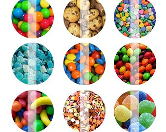 INSTANT DOWNLOAD - Candy 4x6 One Inch Digital Bottle Cap Images